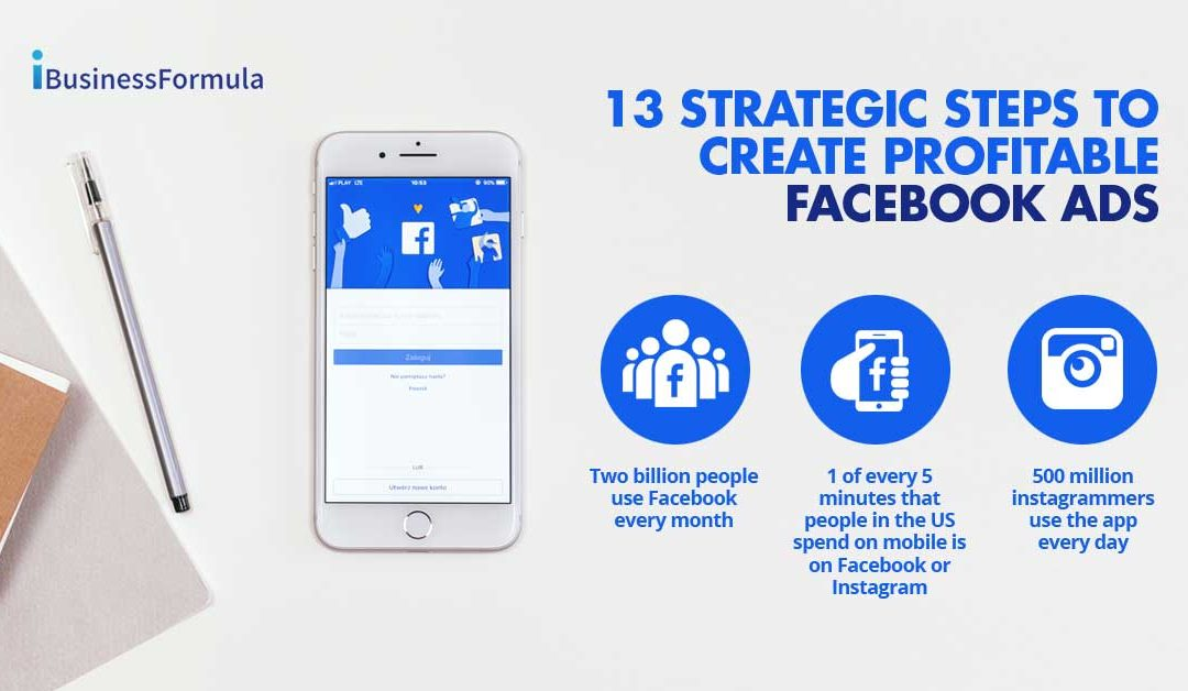 13 strategic steps to create profitable Facebook Ads
